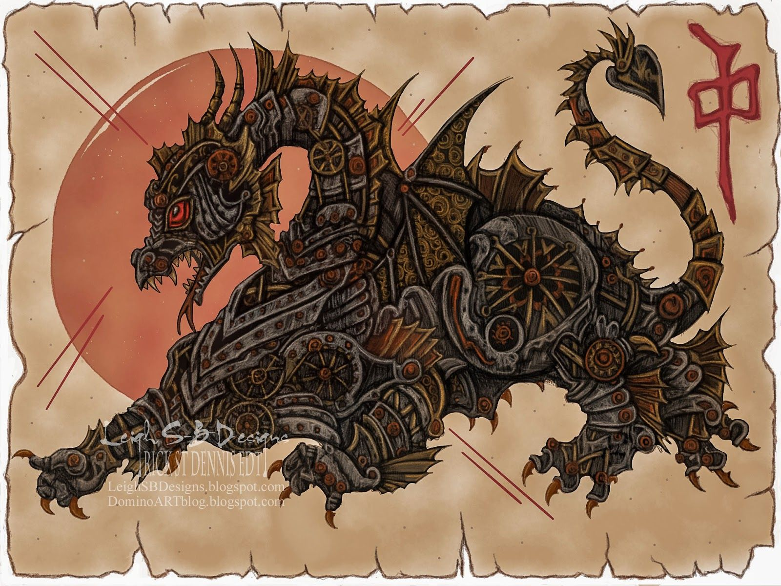 Leigh S B Designs Chinese Steampunk Dragon  Rick St Dennis