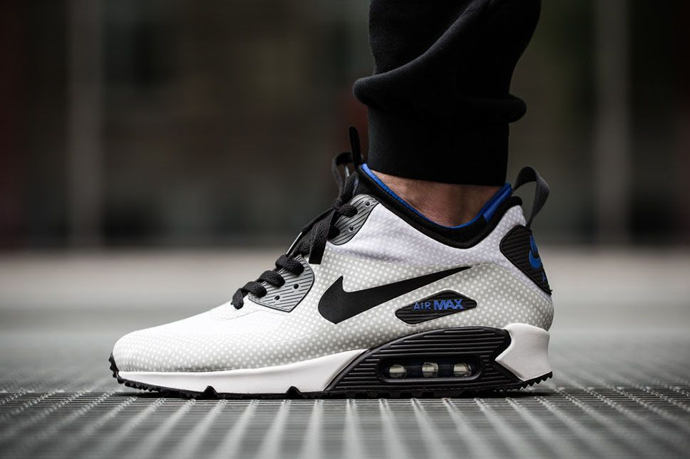 "90f463a0e67d15 Nike Air Max 90 Mid Winter Print ""Black Gym Royal"""
