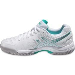 Photo of Asics Gel Dedicate 4 Clay white / mint tennis shoes women Asics