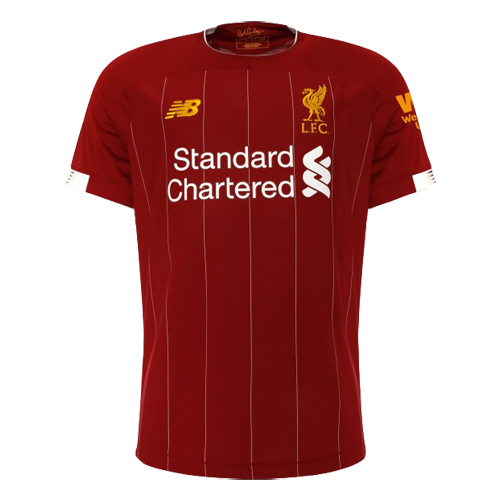19 20 Liverpool Home Red Soccer Jerseys Shirt