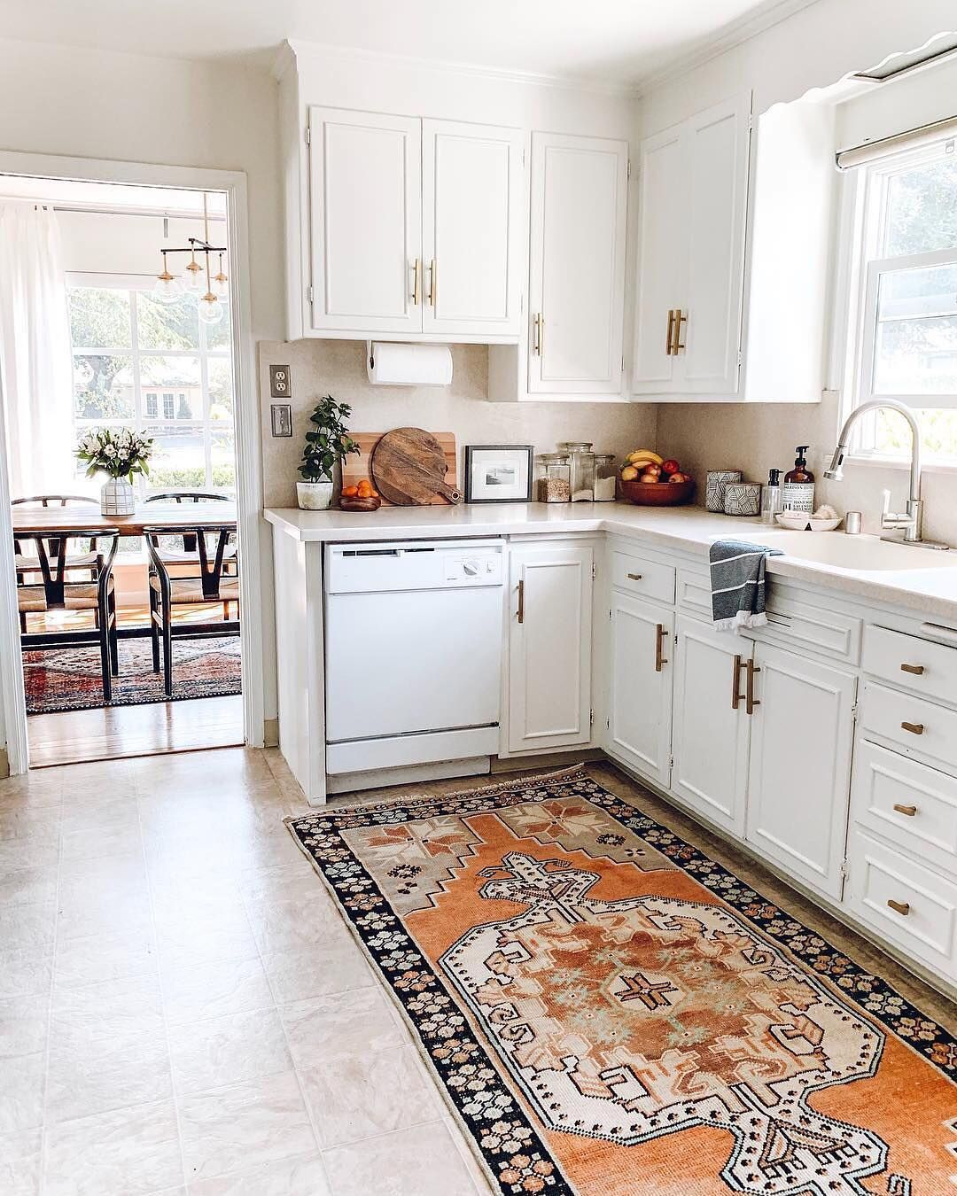 Apartment Therapy On Instagram This Kitchen Runner Tho Image Rebeccaandgenevieve Budget Home Decorating Kitchen Runner Home Remodeling