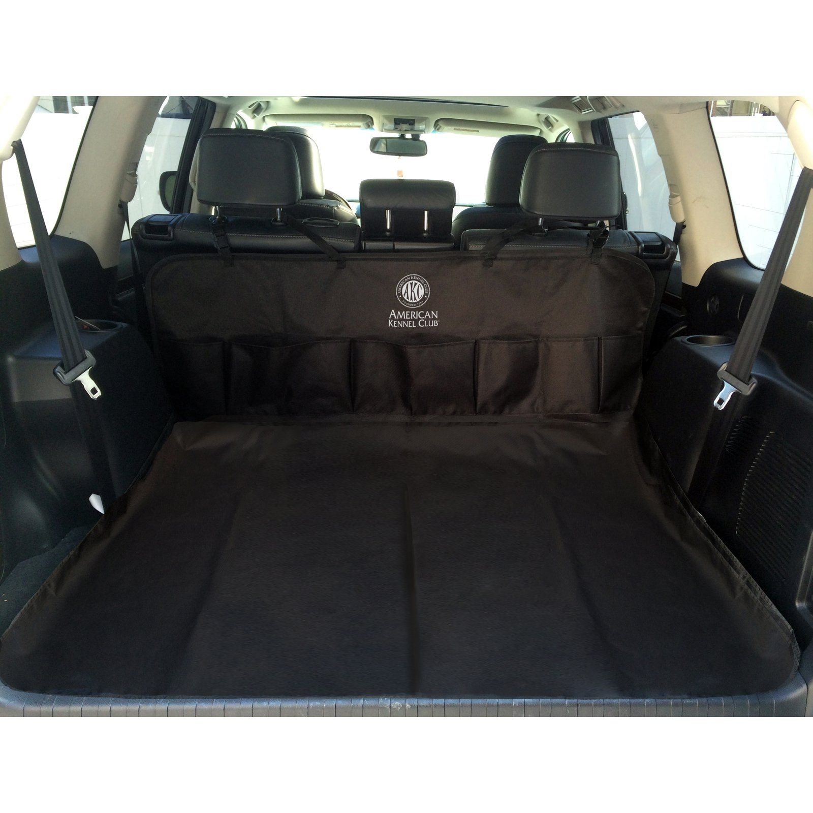 Fantastic Akc 5 Pocket Back Seat And Cargo Car Seat Cover Black In Alphanode Cool Chair Designs And Ideas Alphanodeonline