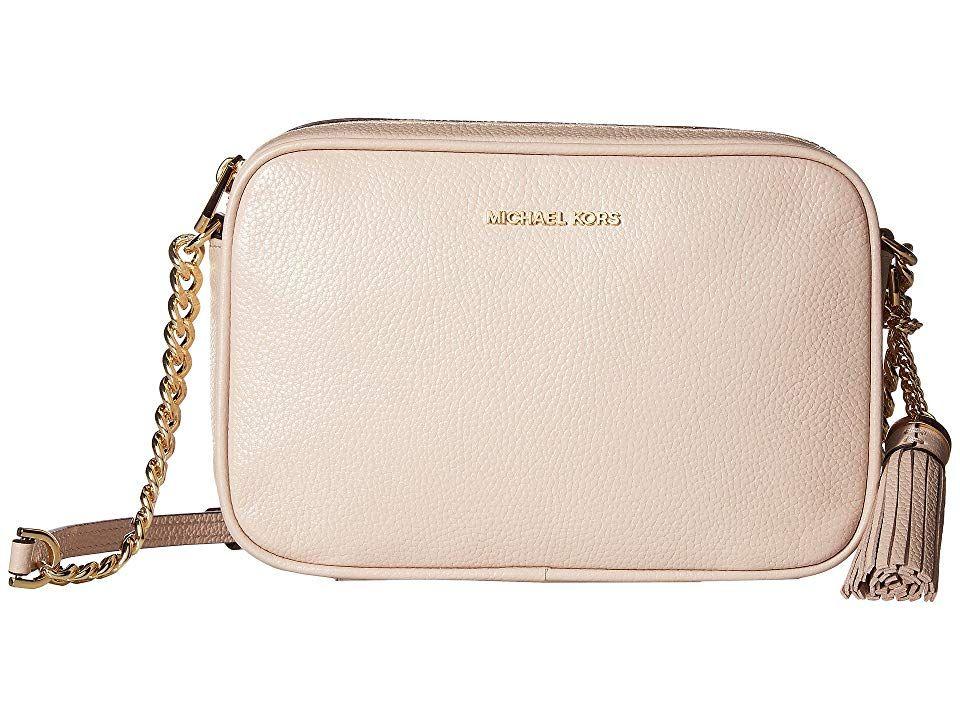 aaab2bca777a59 MICHAEL Michael Kors Ginny Medium Camera Bag (Soft Pink) Bags. The MICHAEL  Michael Kors Ginny Medium Camera Bag is fun for any occasion!