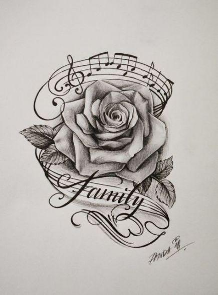 Tattoo Music Rose Design 26+ New Ideas
