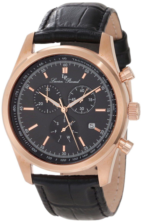 lucien piccard men s lp 10340 rg 02s verona analog display quartz lucien piccard men s lp 11570 rg 01 eiger black leather watch