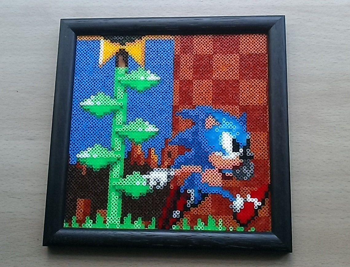 Sonic The Hedgehog Framed picture  Sega! Retro!! Megadrive