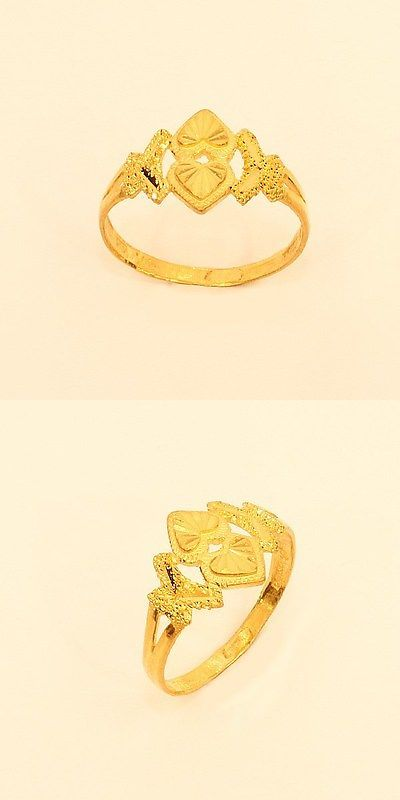 Rings 22K Gold Double Heart Ring From Thailand 33 BUY