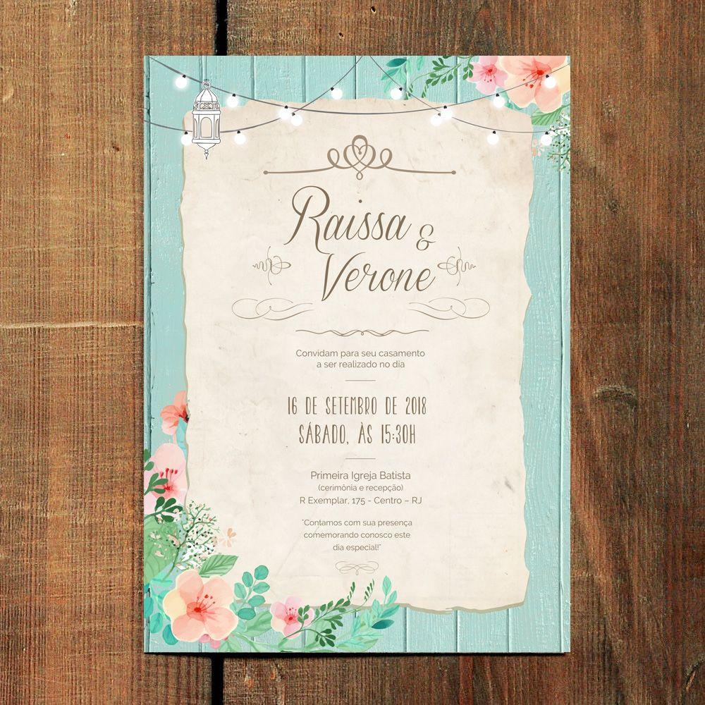 Convite de casamento rustic light artes de convites para casamento nova arte com lindas ilustraes florais saindo em nossa loja online disponvel para compra com stopboris Choice Image