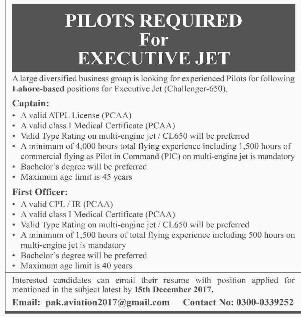 Pakistan Civil Aviation Authority Pcaa Jobs  For Pilots Http