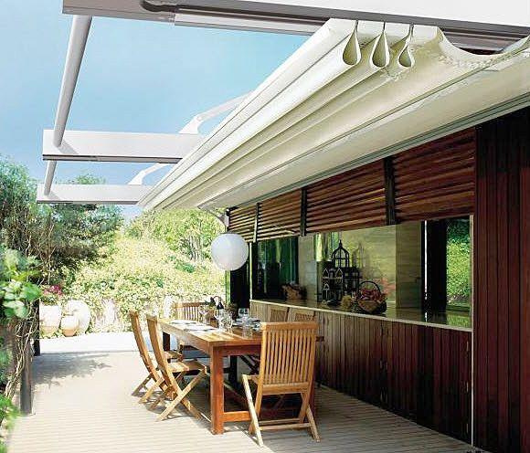 Aluminium Patio Canopy Sliding Canvas Cover T3 Ke Protezioni Solari Srl Canopy Outdoor Canopy Design Canopy Architecture