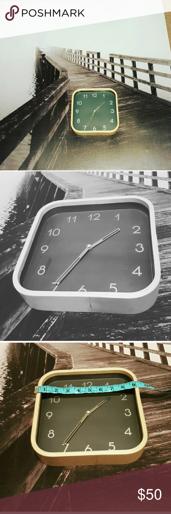 Very Modern wood  Clock This Tid Solid Wood Mantel Clock is with a white face and wooden hands. The white face and hands lighten the effect, and lend a coolness to lift the aesthetic into the modern. Europe Accessories Watches