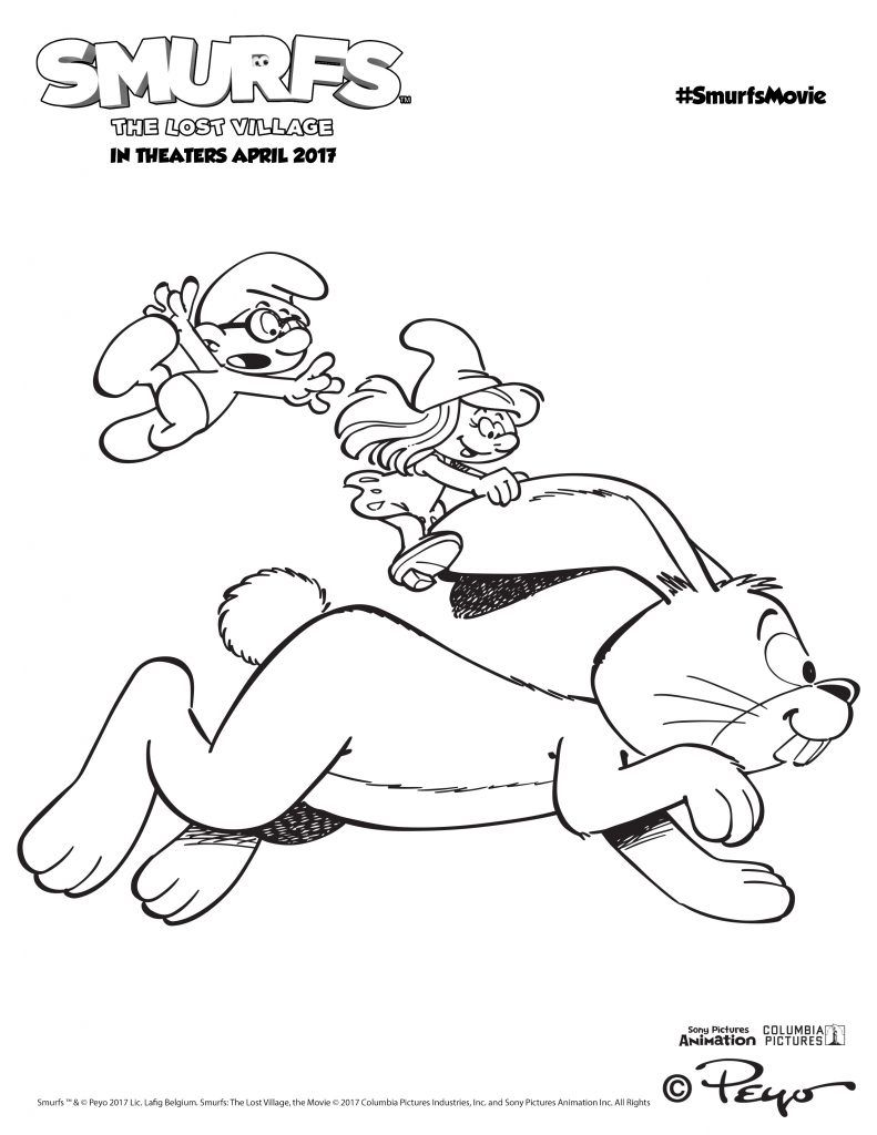 Smurfs 2 coloring pages - Smurfs Activities Over 15 Smurfs Activity Pages
