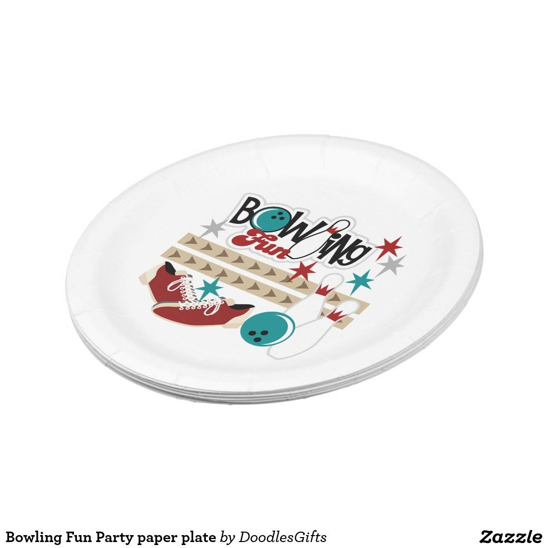 Bowling Fun Party paper plate  sc 1 st  Pinterest & Bowling Fun Party paper plate | Custom Party PAPER PLATES | Pinterest