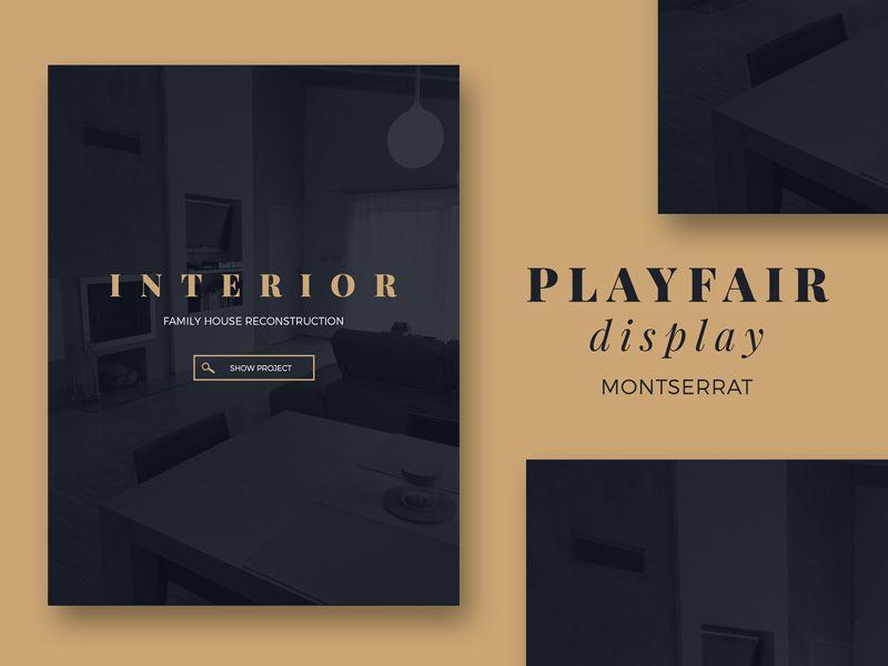 Playfair display & Montserrat | Design | Montserrat font