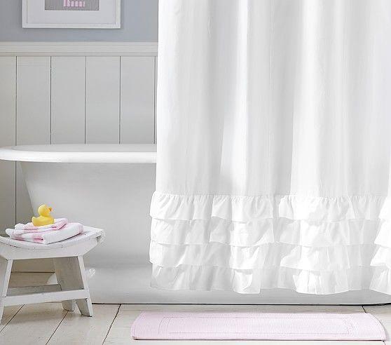 Ruffle Bottom Shower Curtain