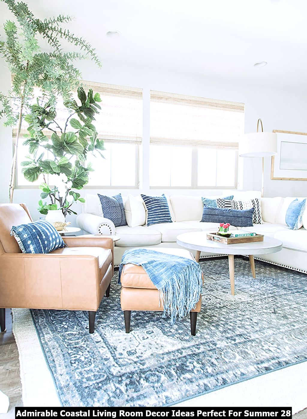 Admirable Coastal Living Room Decor Ideas Perfect For Summer Pimphomee Farmhouse Decor Living Room Living Room Decor Apartment Coastal Decorating Living Room