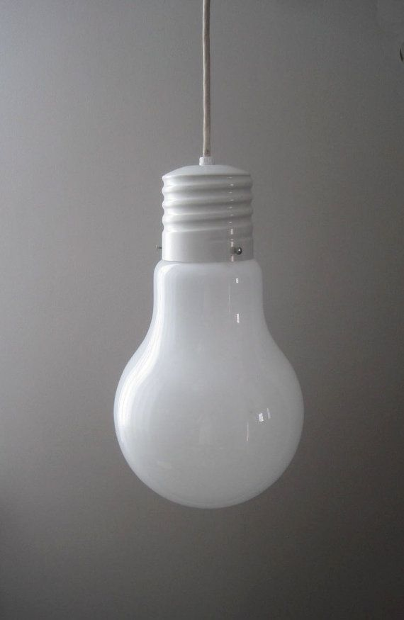 Vintage Retro Modern Giant Light Bulb Hanging Lamp So Cute In A