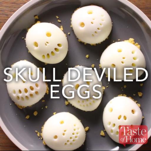 Photo of Skull Deviled Eggs