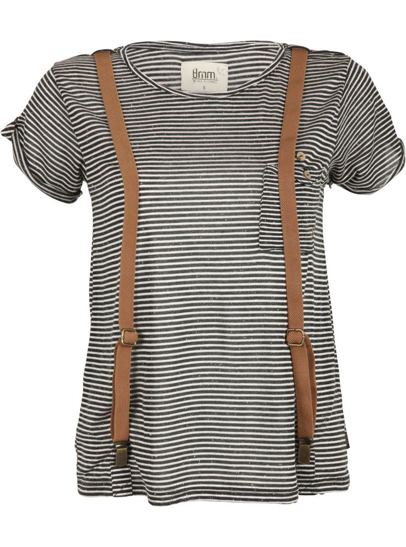 8mm. T-shirt with suspenders