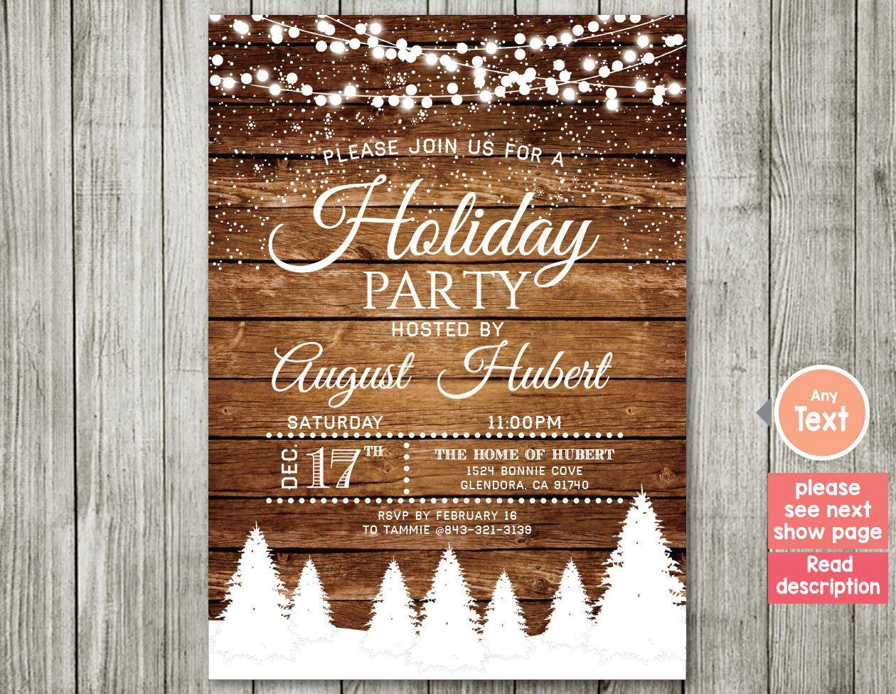 Holiday Party Invitation. Christmas Party Invitation. Christmas ...