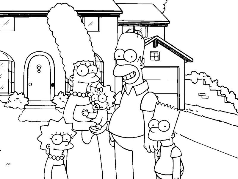 Simpsons Family Coloring Pages Desenhos Para Colorir Tattoo