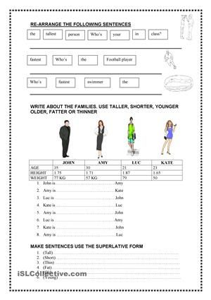 Comparatives 00 Centers Pinterest English And Worksheets