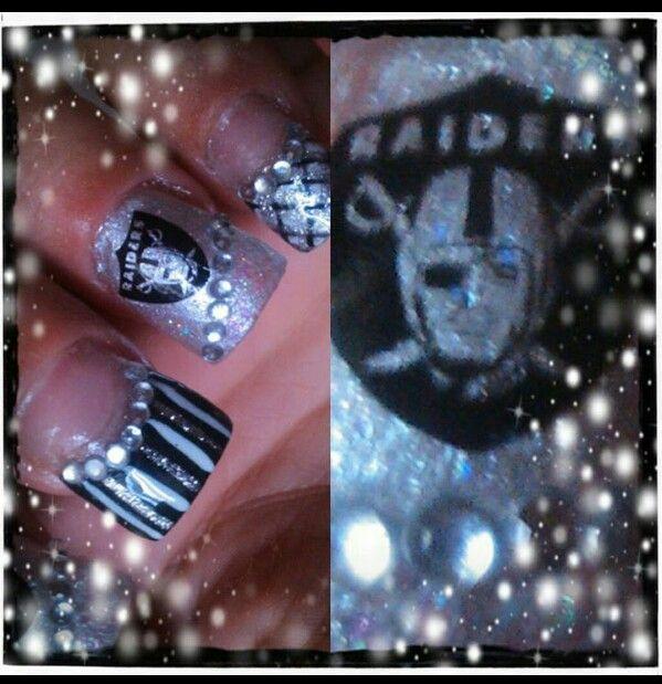 Oakland Raider Nails Nails Pinterest Raiders nails, Raiders - best of birth certificate oakland ca