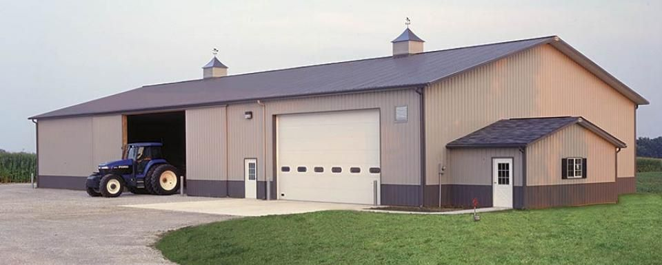 Farm Building Profile Use Farm Shop And Cold Storage With Attached Office For Ag Equipment Storage Size 60 X 120 X Farm Buildings Farm Shop Shop Buildings
