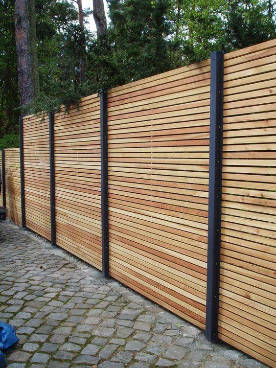 Sichtschutzzaun Holz Metall Gunstig Larche Hohe Grau Weiss Aus Holz