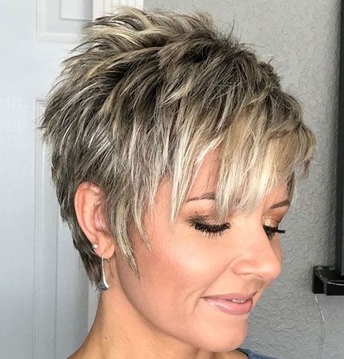 Pixie Hairstyle In 2020 Haircut For Thick Hair Short Hair Styles Pixie Hair Styles