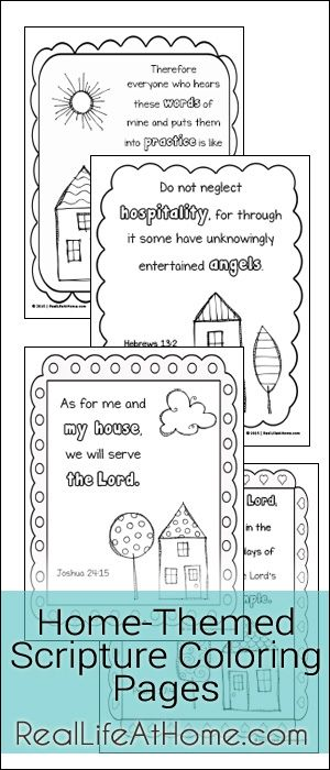 Home-Themed Scripture Coloring Pages Free Printables ...