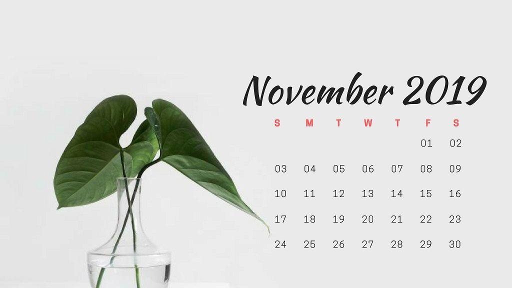 November 2019 Calendar Wallpaper Calendar November
