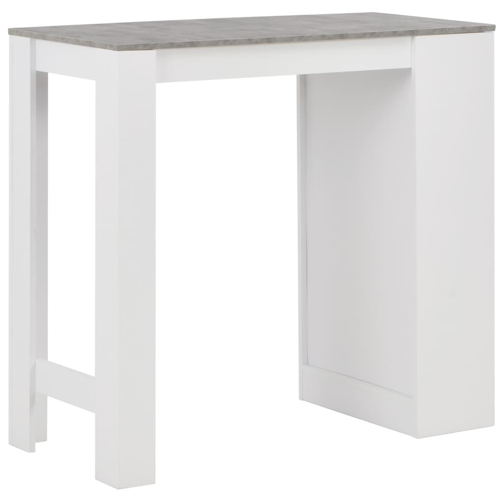 Photo of Bar Table with Shelf White 110x50x103 cm