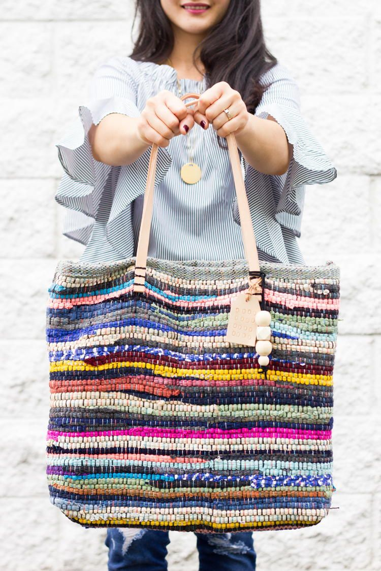 Rug Rag Tote Bag Tutorial