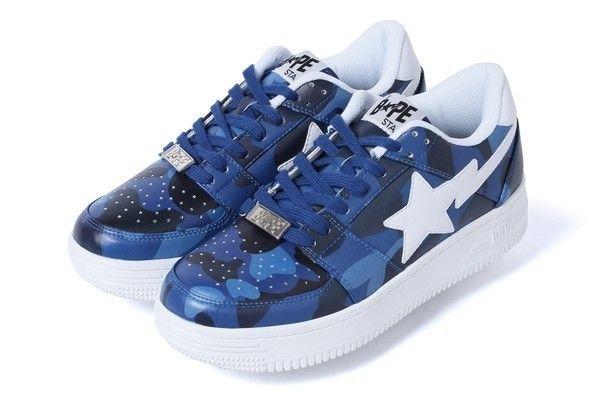 Bape blue camo shoes | Bape shoes, Camo