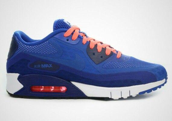 Nike Air Max 90 Breathe Hyper Cobalt Nike Air Max Nike Shoes Blue Nike Shoes Men