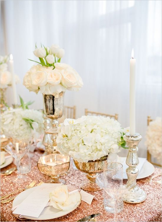 Glamorous Rose Gold Wedding Ideas Gold wedding theme