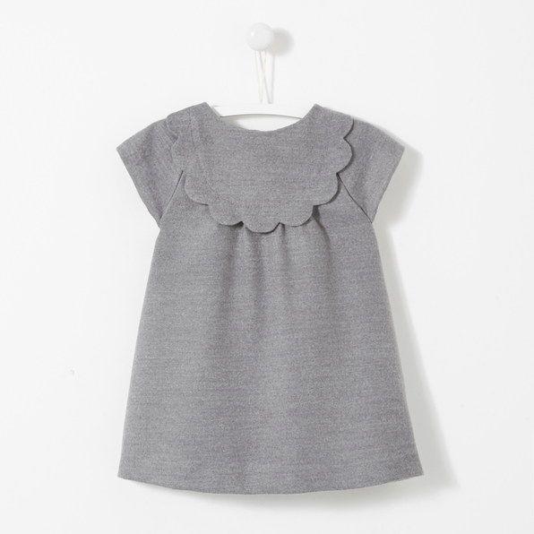 Scalloped Bib Dress Baby Girl Clothes Toddler Girl