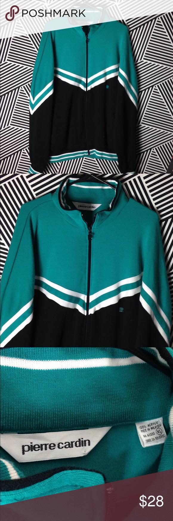 Vintage 70s Pierre Cardin Track Jacket Sweatshirt Track Jackets Vintage Nike Pierre Cardin