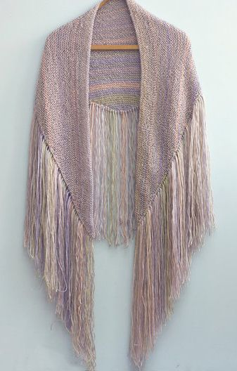 Knitting pattern for Fringe Shawl - A very easy pattern for a ...