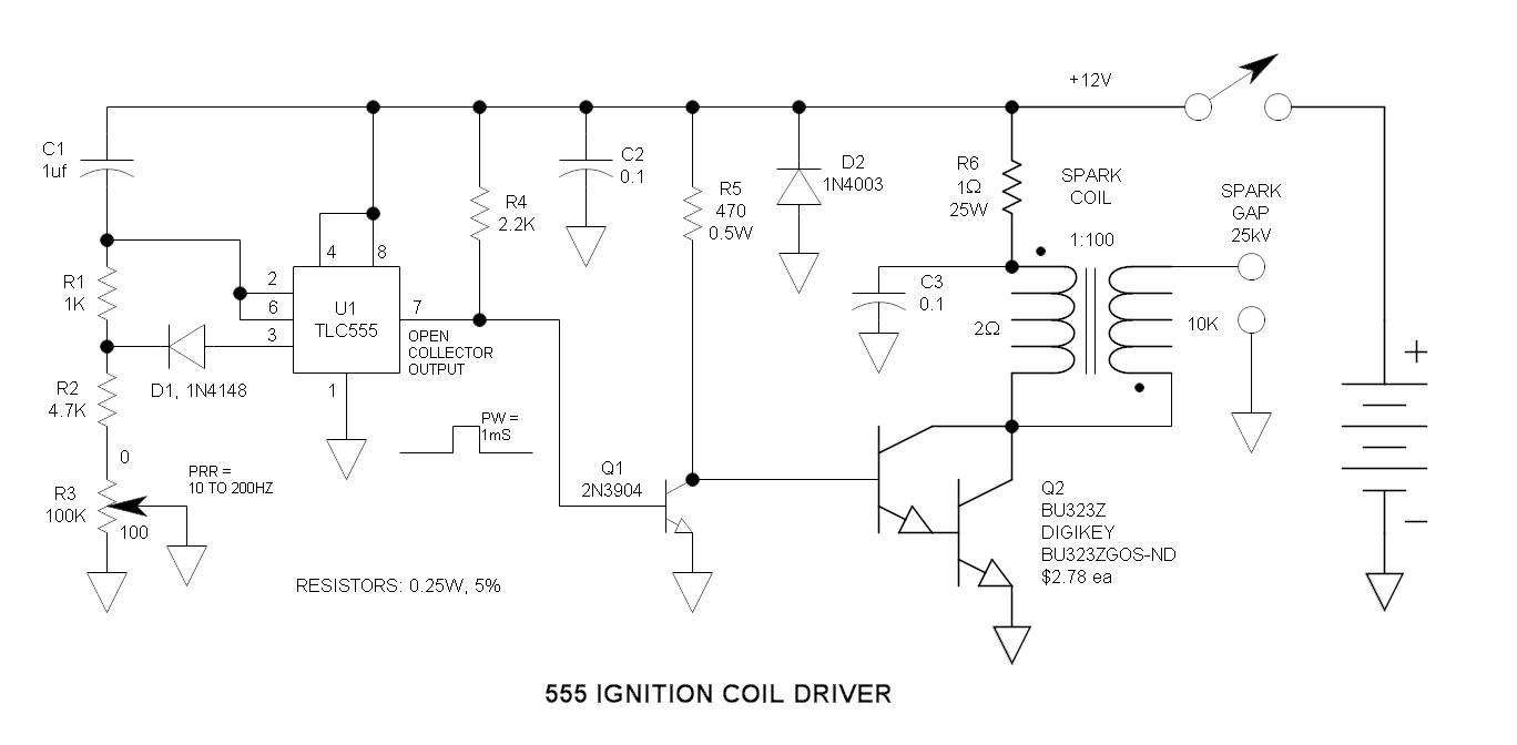 small resolution of 555 ignition coil driver circuit rh electroschematics com ignition555 ignition coil driver circuit rh electroschematics com