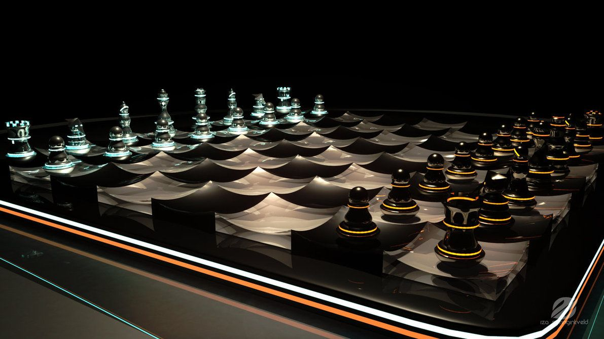 Contemporary Chess Set Futuristic Chess Set 2Izaspringintveld.deviantart On
