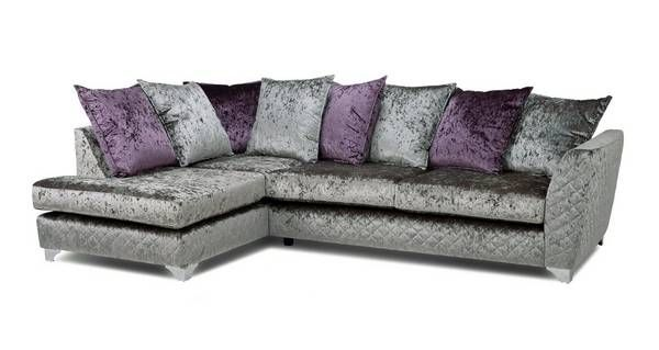 Panache Right Hand Facing Pillow Back Corner Sofa Krystal   DFS