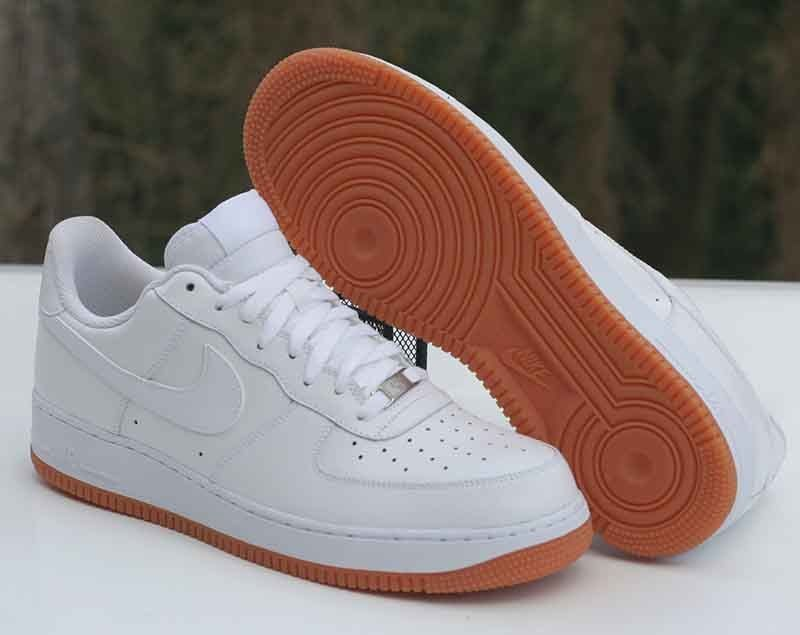 93306f618f67 Nike Air Force 1 Low 07 White White Gum Sole 488298-129 Men s Size 13  Nike   AthleticSneakers