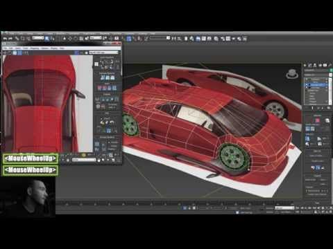3dsmax Low Poly Car Modeling Texture Lowpoly Lambo Erdekes Uv