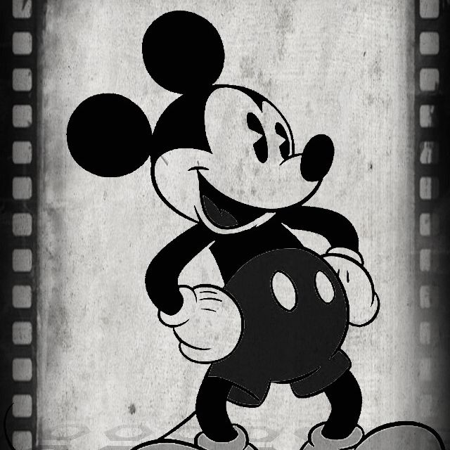 Mickey Mouse Black And White