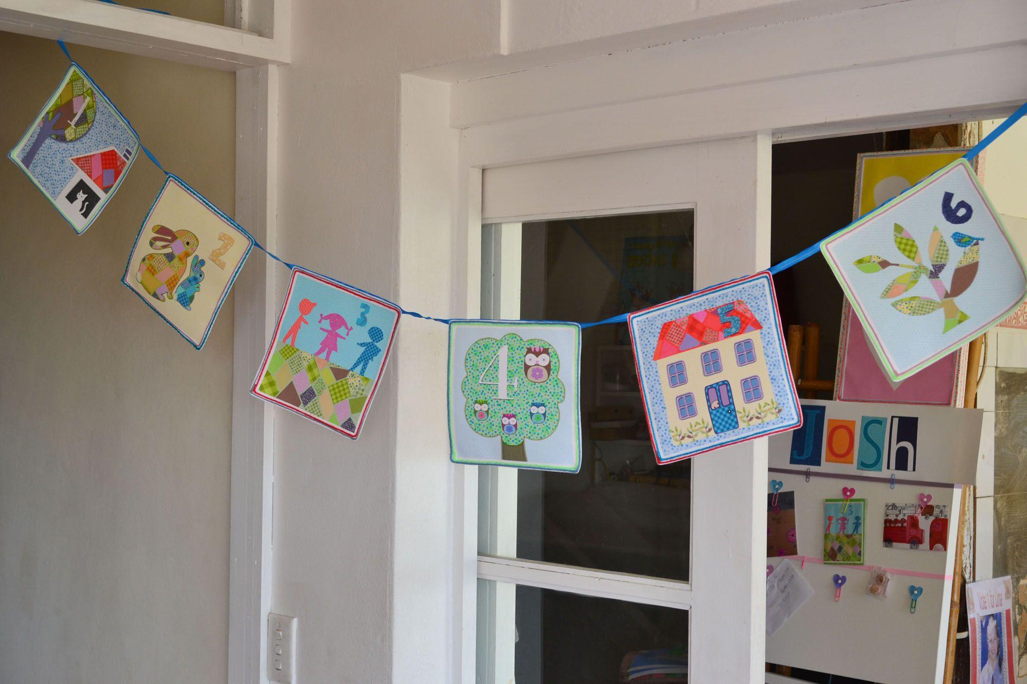 Canvas Bunting For Boy Nursery