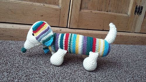 Free Amigurumi Dachshund Pattern : Ravelry henry the sausage dog free crochet pattern by claire j