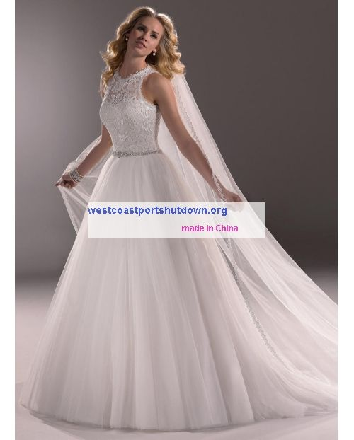 delicate beaded waistband Lace Maggie Sottero Liberty-3MS757 price ...