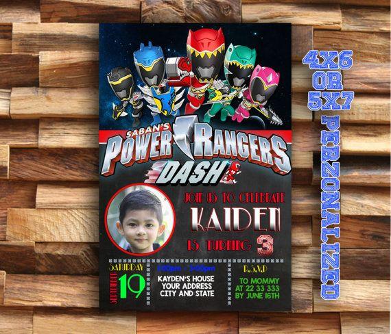 Power Rangers Power Rangers Invitación Cumpleaños De Power